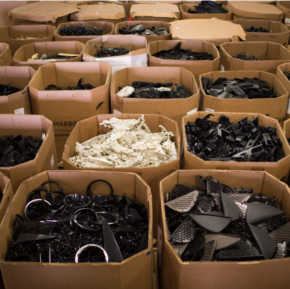 Industrial Plastic Staged for Recycling at PADNOS